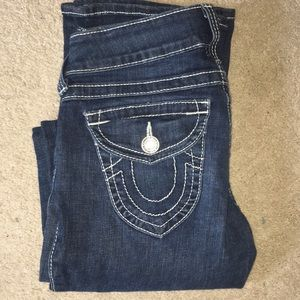 True religion high rise boot jeans